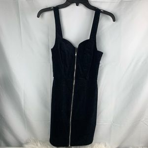 H&M black zippered bib dress perfect for fall